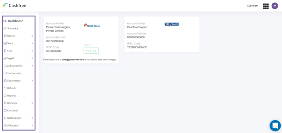Cashfree user management feature lets owner add multiple team members from different teams to have authorized access to various features on Cashfree Dashboard.