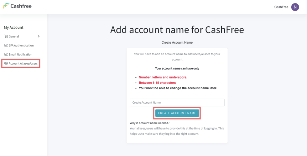 How to add multple users to cashfree merchant account on dashboard